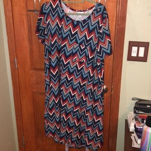 LuLaRoe Dresses - LuLaRoe XL Carly dress
